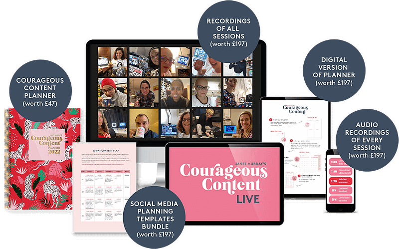 What you get at Courageous Content Live 2022
