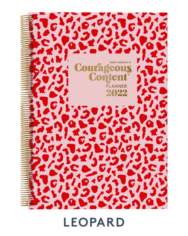 Courageous Content Planner 2022 Leopard Cover