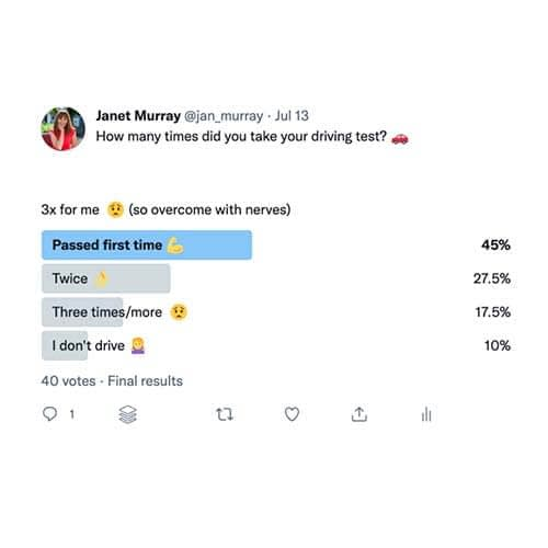 Janet Murray example Facebook poll