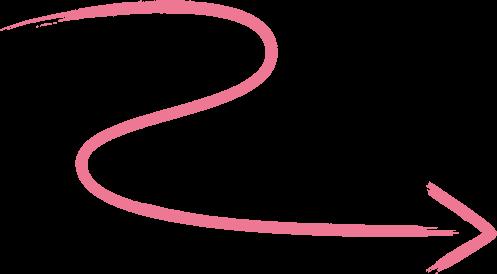 Right z Arrow Illustration Pink