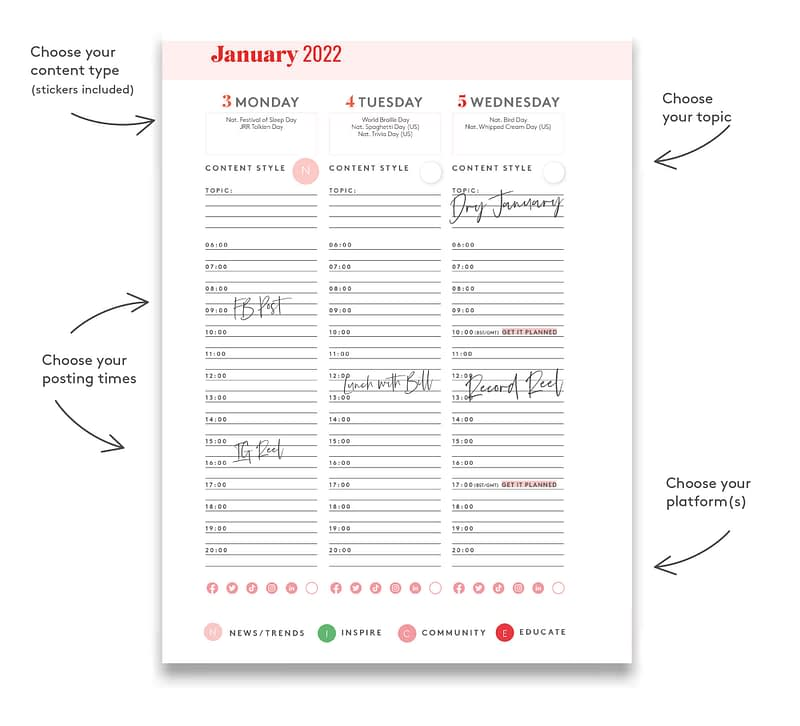 How the Courageous Content Planner 2021 works