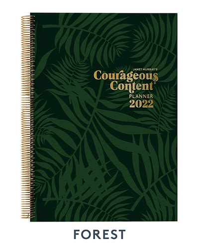 Courageous Content Planner 2022 Forest Cover Small