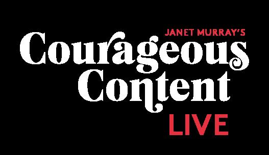 Courageous Content Live Logo White