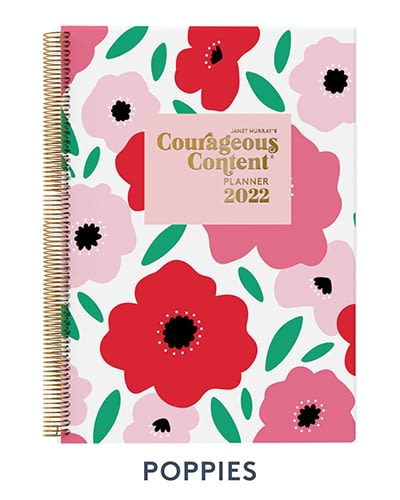 Courageous Content Planner 2022 Poppies Cover Small