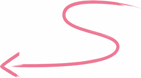 Left z Arrow Illustration Pink