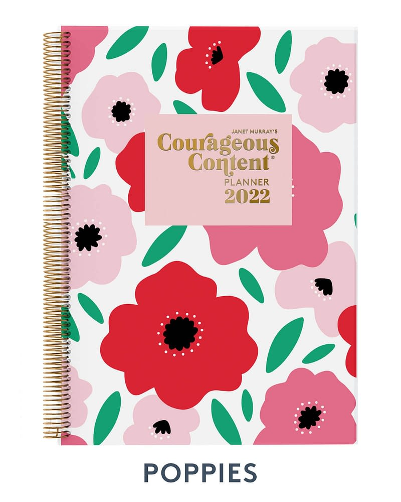Courageous Content Planner 2022 Poppies Cover