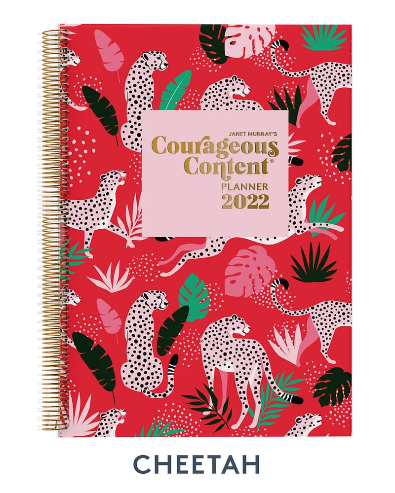 Courageous Content Planner 2022 Cheetah Cover