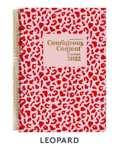 Courageous Content Planner 2022 Leopard Cover Small